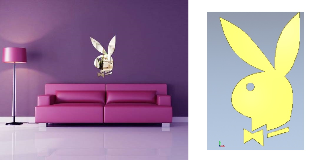 Playboy rabbit for home decoration