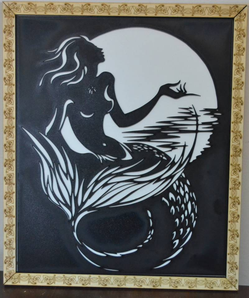 Mermaid Decorative Frame – DXF DOWNLOADS – Files for Laser Cutting ...