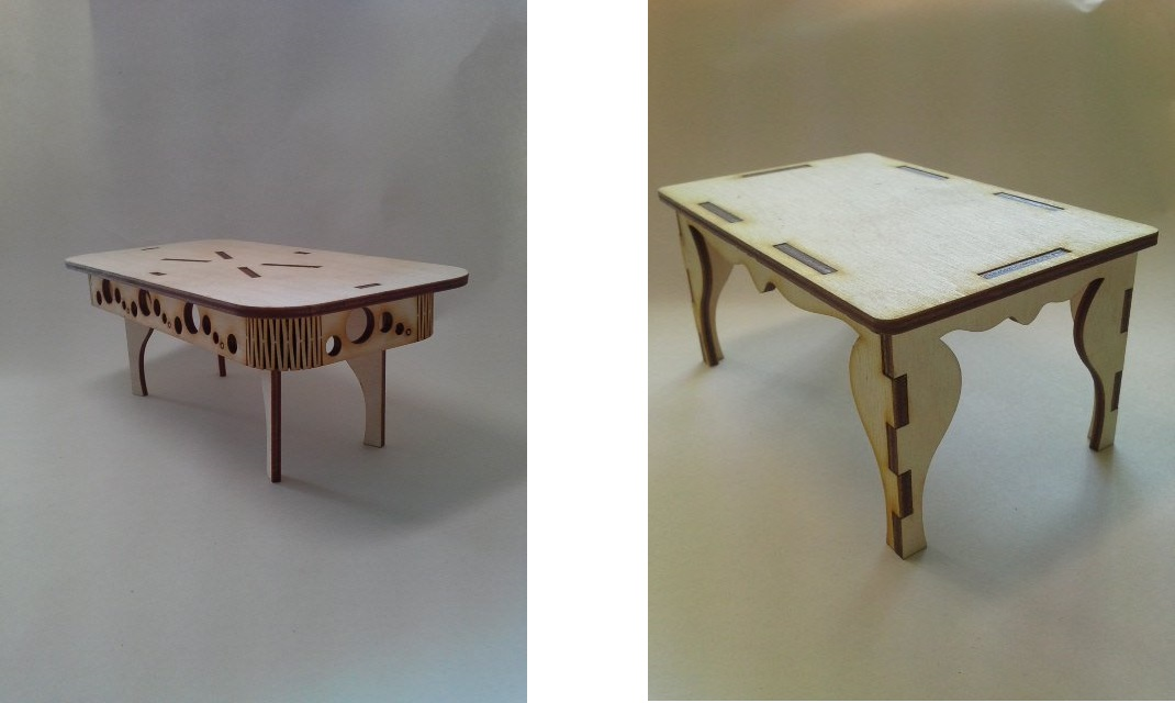 Mini table for laser cutting