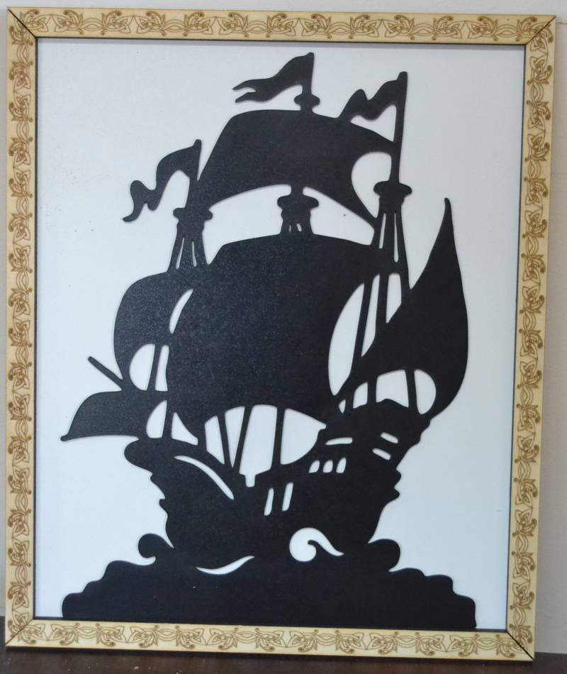 Pirate ship cut frame on laser router – DXF DOWNLOADS – Files for ...