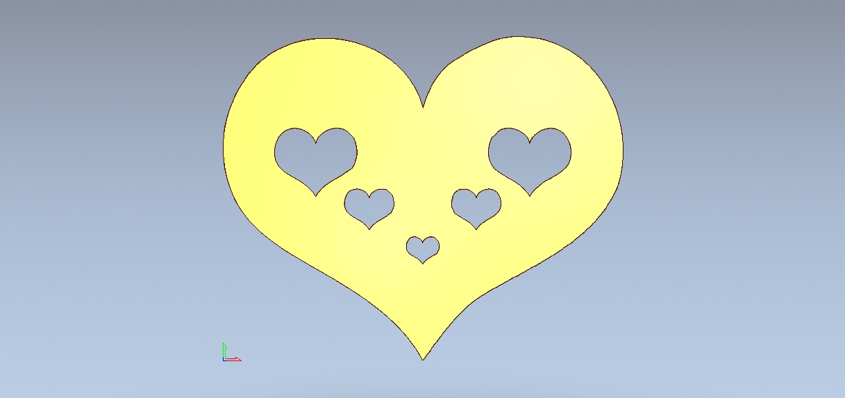 Hearts corazón Coração Herz Cuore Laser CNC Router