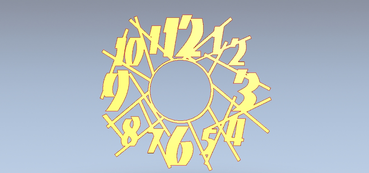 Crazy clock – DXF DOWNLOADS – Files for Laser Cutting and