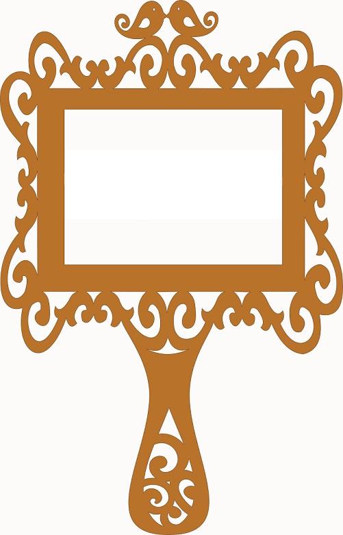 Provencal frame for mirror
