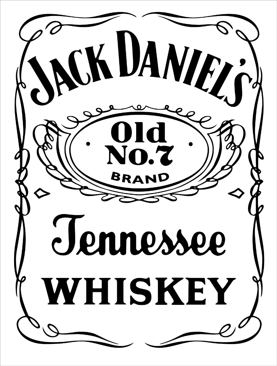 Jack Daniels Vector DXF Top
