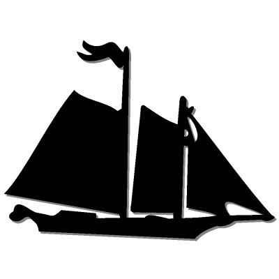 Sailboat silhouette to cut – decoration