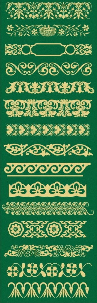 Various designs in repetition pattern format to develop other drawings