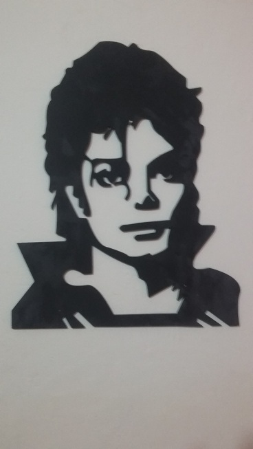 Vector of Michael Jackson to cut in cnc or laser