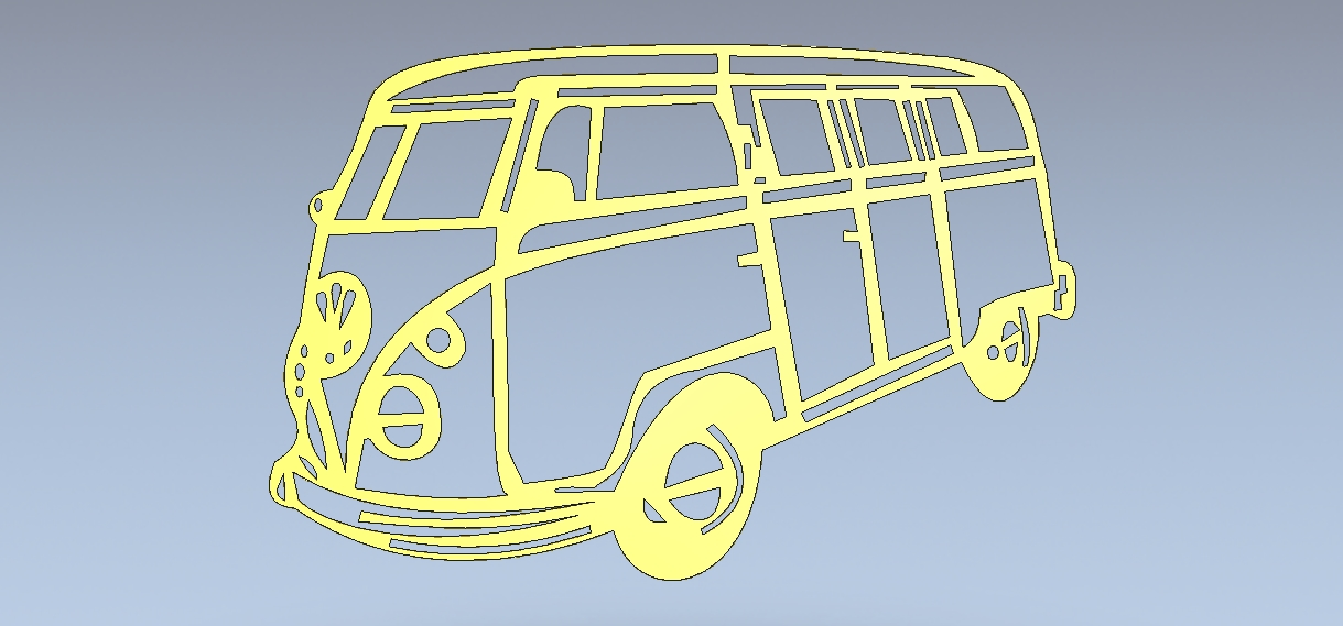 Van for laser cutting or cnc – vector in the perfect dxf format