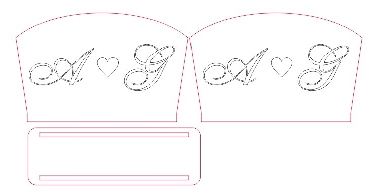 Napkin holder in DXF format vector