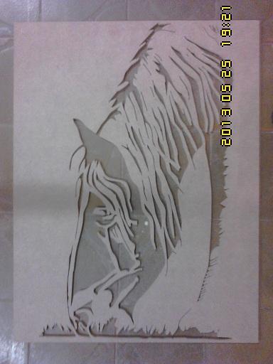 Horse frame for laser cutting