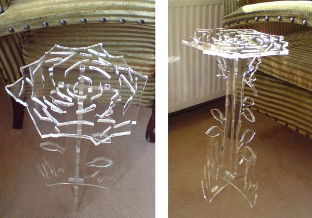 Acrylic table vector