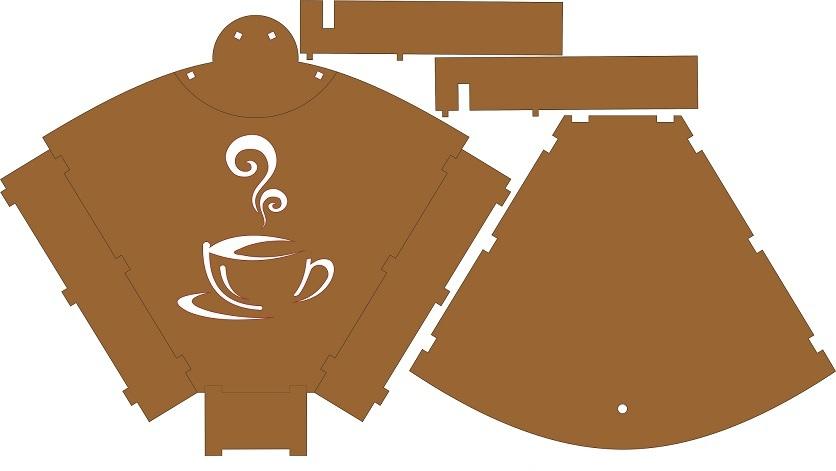Coffee strainer holder
