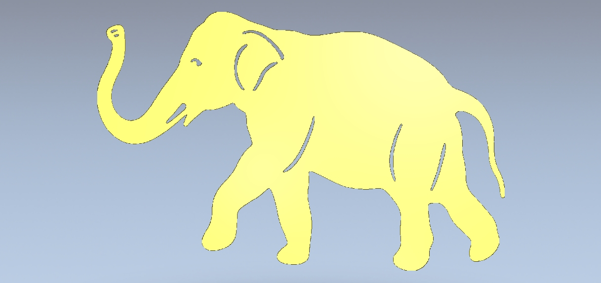 Elephant Dxf Downloads Files For Laser Cutting And Cnc Router Artcam Dxf Vectric Aspire Vcarve Mdf Crafts Woodworking