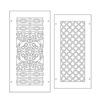 Screens Vectors DXF Plans for ArtCAM Vectri and VCarve etc