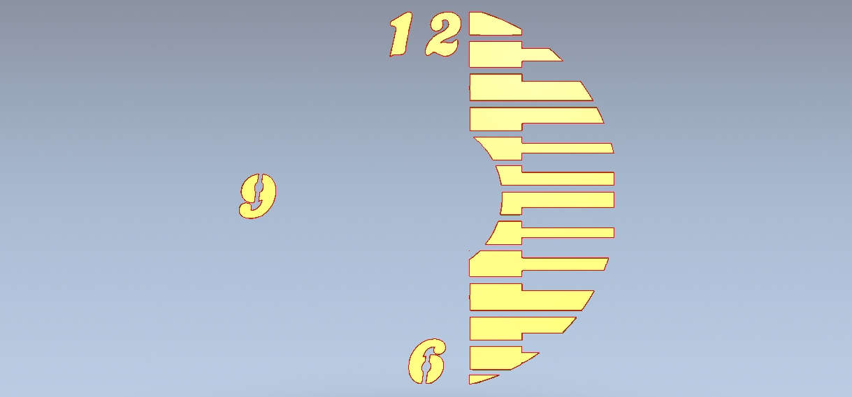 DXF Clock Vector for laser