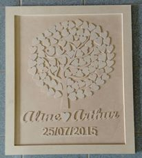 Frame tree with heart flowers