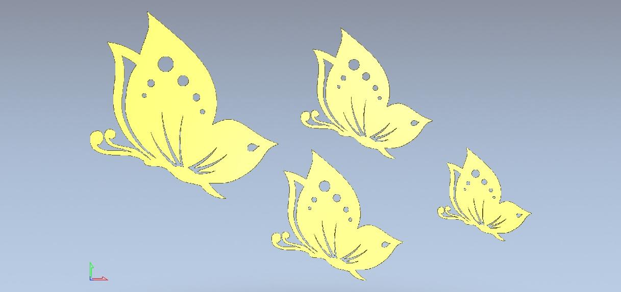 Butterflies vectors for laser