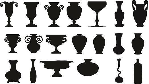 Kit of vectors of vases