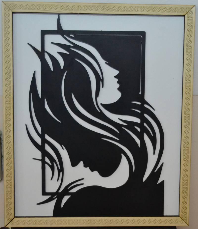 Decorative frame woman