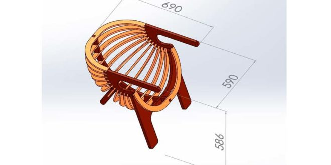 Chair CNC Router and Laser File DXF Vector Vetores Vectores