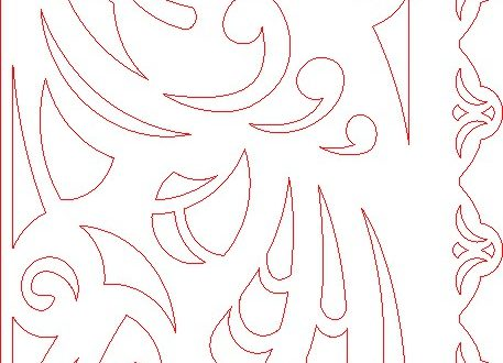 Decorative Panel Vector Dxf Downloads Files For Laser