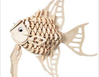 Fish DXF Vector 3D puzzle