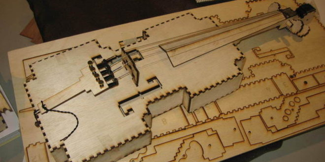 DXF Vector Violin for cutting in laser machine