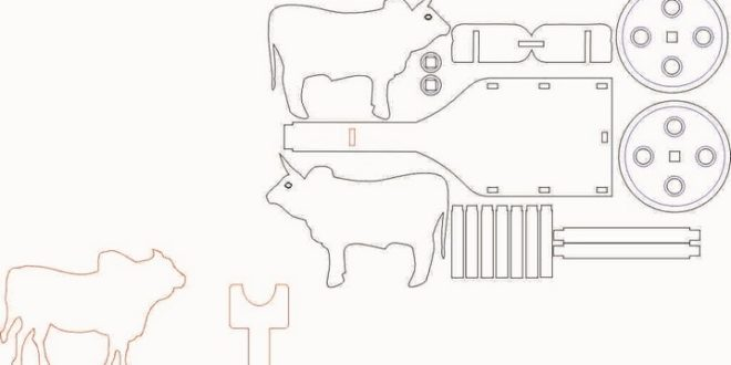 Ox Cart Dxf Downloads Files For Laser Cutting And Cnc