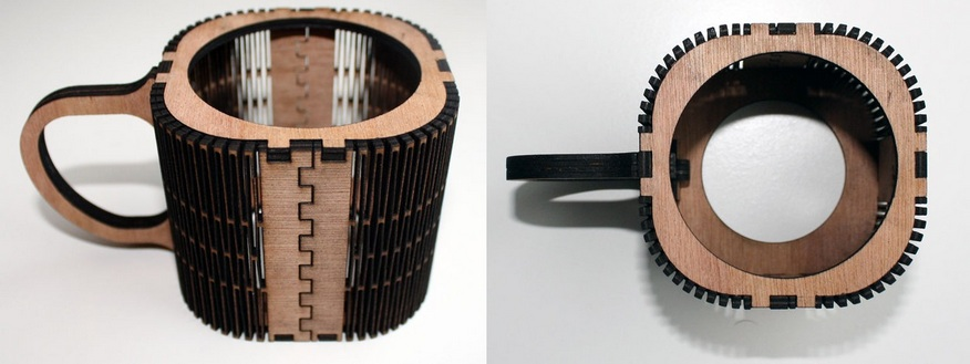 Cup holder to laser cut