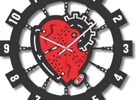 Vector decorative clock