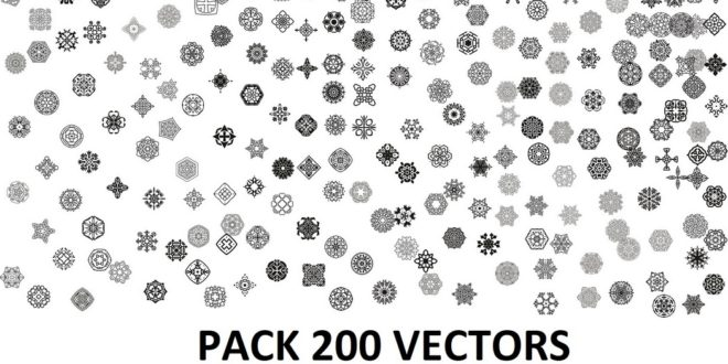 Pack 200 vectors mandalas decor file DXF and CDR Corel X8