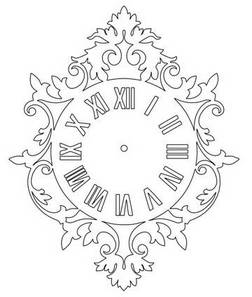 Roman Numeral Wall Clock – DXF DOWNLOADS – Files for Laser
