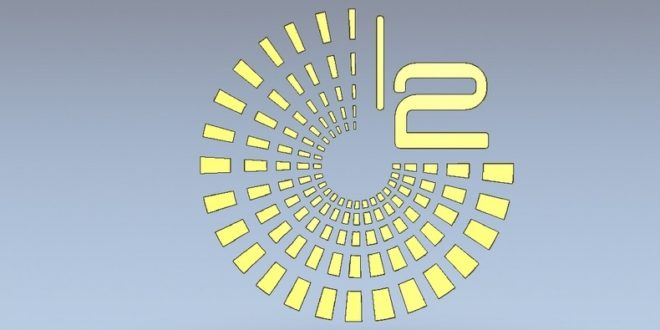 futuristic clock vector for laser cutting