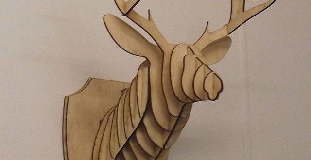 3d deer head for wall