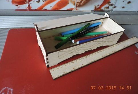 Box with foldable cover