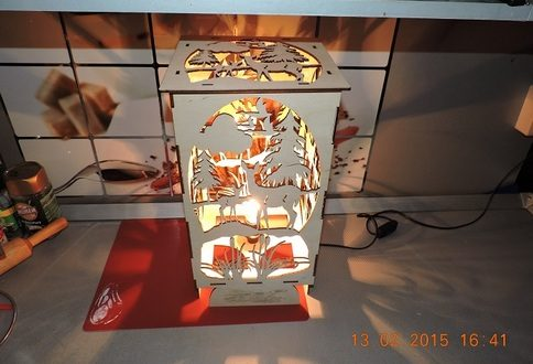 Decorative box with lights