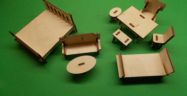 Mini furniture for dollhouse – DXF DOWNLOADS – Files for Laser