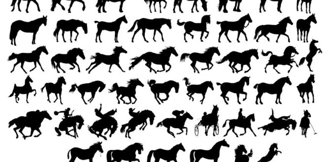 FREE Silhouettes of horses