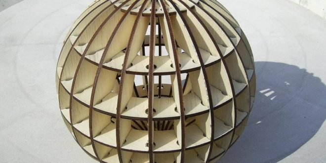 Sphere puzzle can be used as chandelier