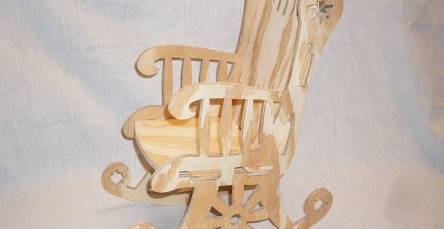 Rocking chair thumbnail – DXF DOWNLOADS – Files for Laser Cutting