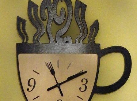 Coffee cup-shaped wall clock – DXF DOWNLOADS – Files for Laser