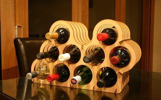 Support for wine bottles