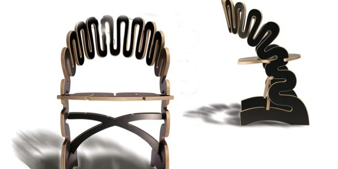 Chair made of folding wood