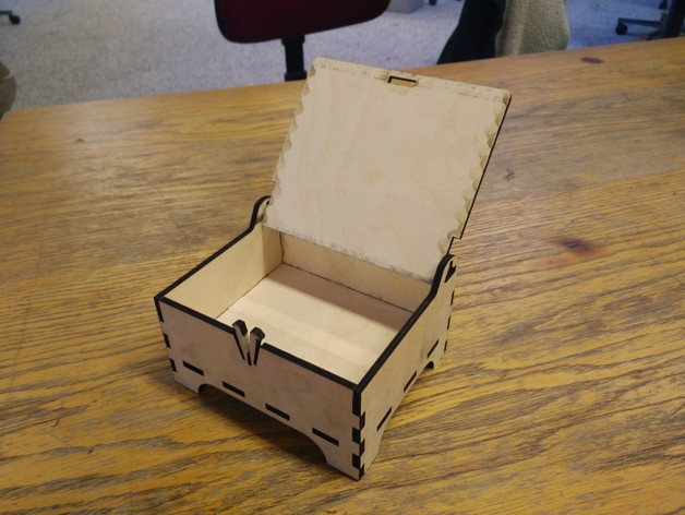Wooden Box With Lock Dxf Downloads Files For Laser