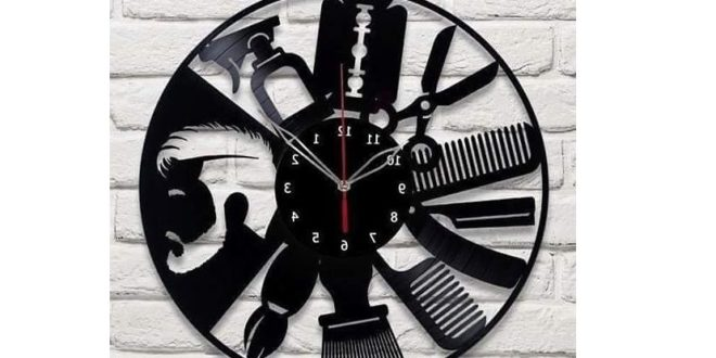 Wall clock for barbershop