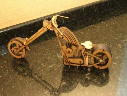Laser – 3D – Chopper Motorbike