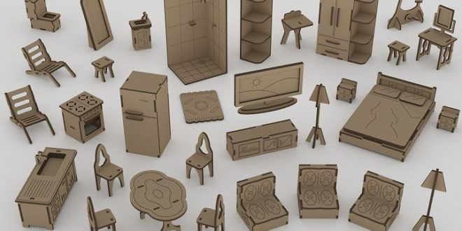 Miniatures Furniture for laser or cnc router