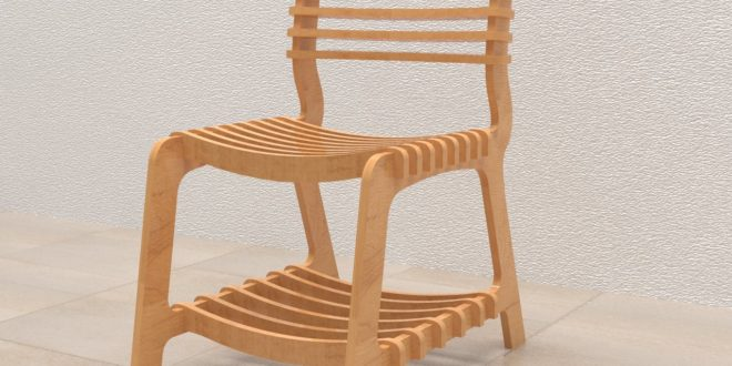 REDWOOD´S CHAIR Indoor chair with assemble parts. Material thick 18 mm