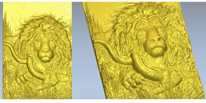 3D Relief STL – Lion Frame For CNC Milling File .RAR