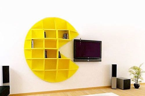 Pacman Shelf for Wall Decoration
